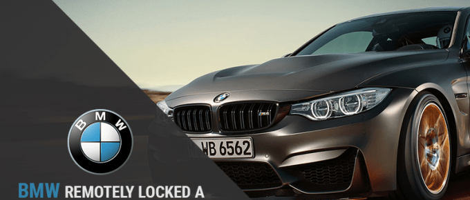 BMW remotely locked a vehicle & can trap a thief while stealing a car