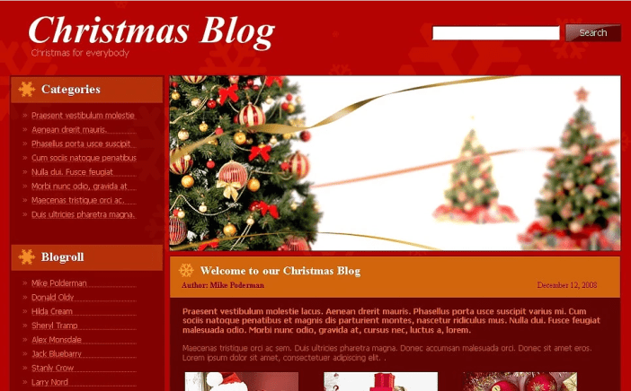 Christmas Blog WordPress theme
