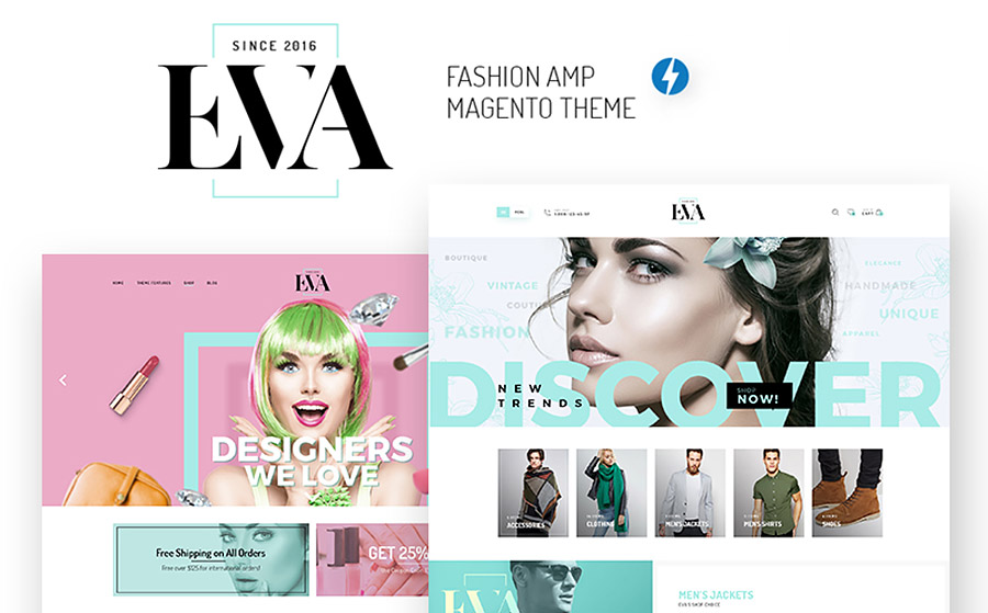 EVA - Fashion Store AMP Magento Theme