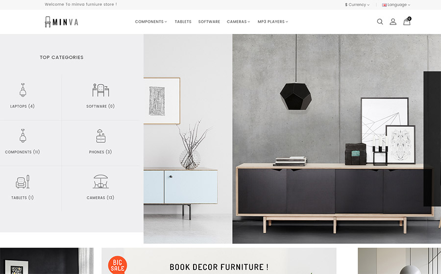 Minva - The Furniture Store OpenCart Template