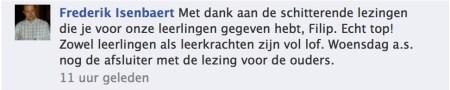 Reactie Frederik Isenbaert ~ Facebook Internetvaardig
