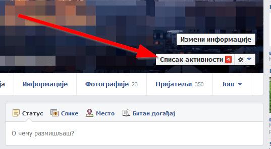 fejsbuk spisak aktivnosti Obrišite istoriju svega što ste ikada pretraživali na Fejsbuku