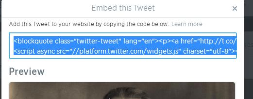 kopiranje koda za ugradjivanje Kako da ugradite nečiji status sa Tvitera ili Fejsbuka na svoj sajt ili  blog?