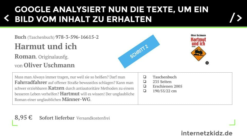 Entity Optimierung Textanalyse durch Google