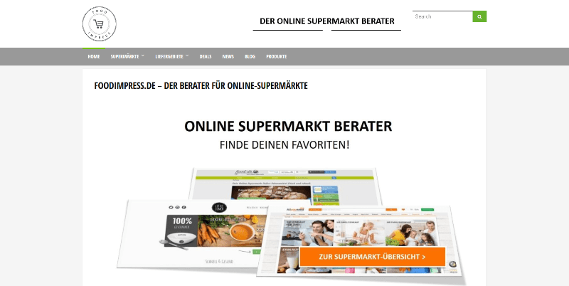 foodimpress Online Supermärkte - neues Projekt