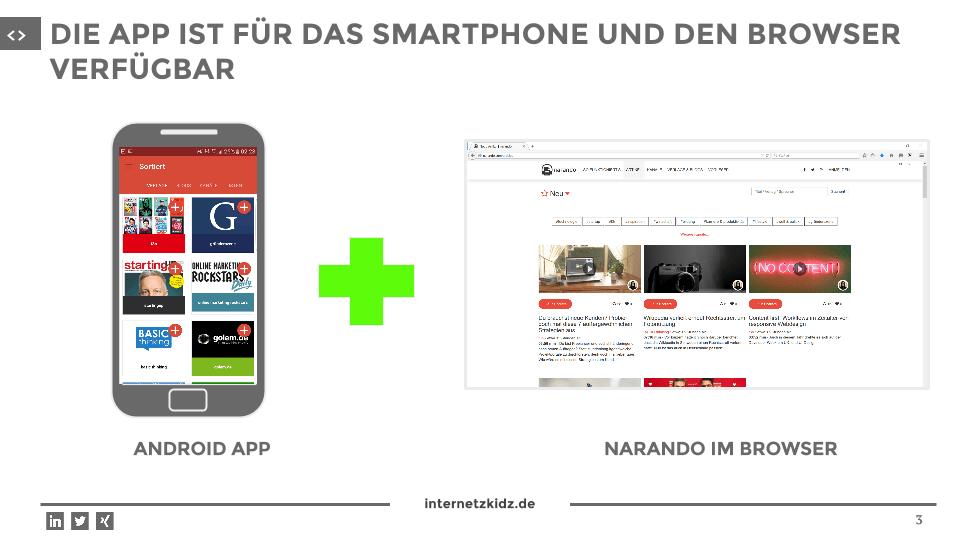 narando App mobile und browser