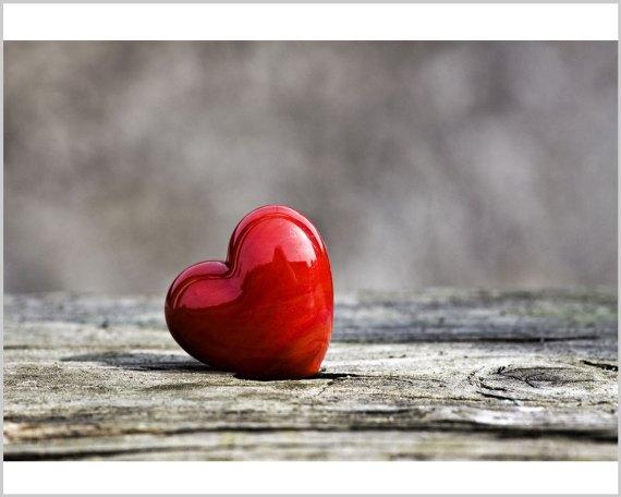 Stampa su tela - cuore rosso