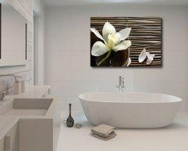 Stampa su tela - petali di fiore su bamboo