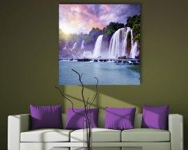 stampa su tela-paesaggio con cascate