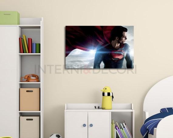 stampa su tela-superman uomo d'acciaio