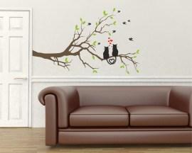 adesivo murale-gattini innamorati