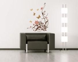 adesivo murale-farfalle con decori