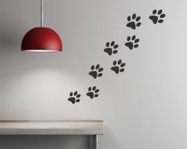 adesivo murale-impronte di gatto