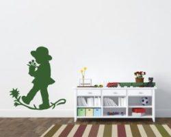 adesivo murale-bimbo con vaso di fiori