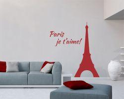 adesivo murale-paris je t'aime
