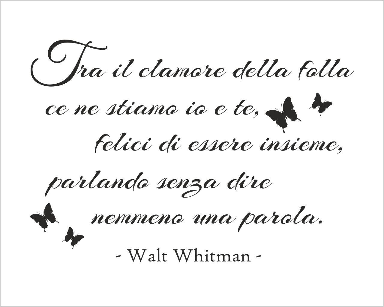 Frasi Amore Whitman.Adesivo Da Parete Frase Walt Whitman Tra Il Clamore Della Folla Adesivo Murale Interni Decori Adesivi Murali Wall Stickers E Quadri Moderni
