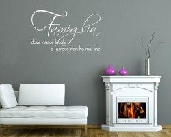 adesivo murale-famiglia dove nasce l'amore