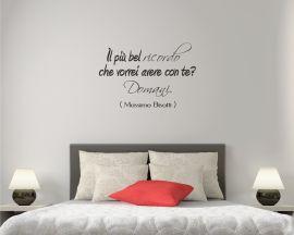 adesivo murale-Massimo Bisotti-il più bel ricordo