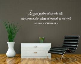 Adesivo murale-A. Schopenhauer-se vuoi...