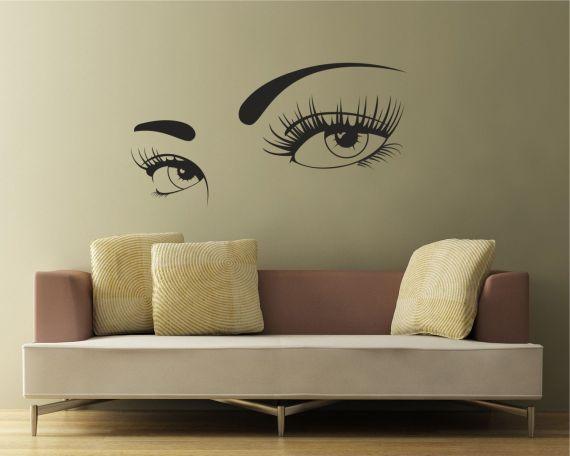 adesivo murale-occhi sensuali