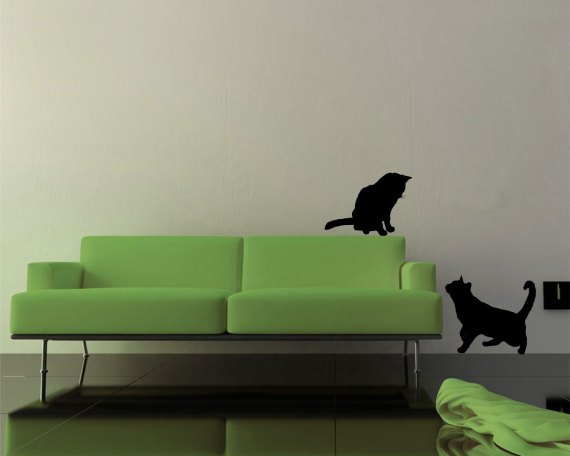 desivo murale-gatti giocherelloni