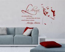 Adesivo murale-Marilyn Monroe-la donna è la rovina
