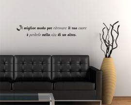 adesivo murale-Massimo Bisotti-il miglior modo