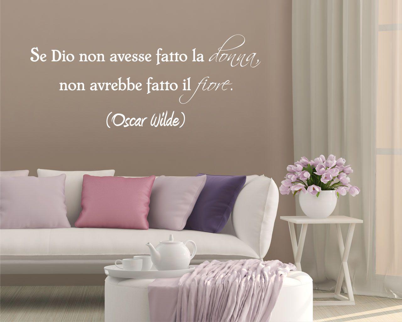 Oscar Wilde La Donna è Un Fiore Frasi Aforismi Citazioni Adesivo Murale
