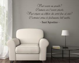 adesivo murale-Sant'Agostino-Vuoi essere un grande?