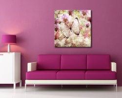 stampa su tela-farfalle tra orchidee