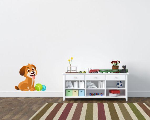 Adesivo murale-cucciolo giocherellone