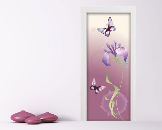 Adesivo per porte-fiore e farfalle