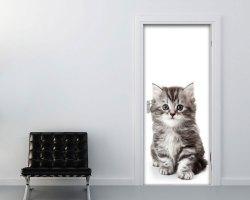 AQdesivo per porte-un grazioso gattino