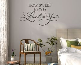 Adesivo murale-how sweet it is