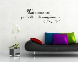 Adesivo murale-Massimo Bisotti-tutti siamo nati..
