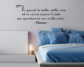Adesivo murale-Platone-vorrei essere il cielo