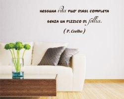 Adesivo murale-Paulo Coelho-nessuna vita è completa
