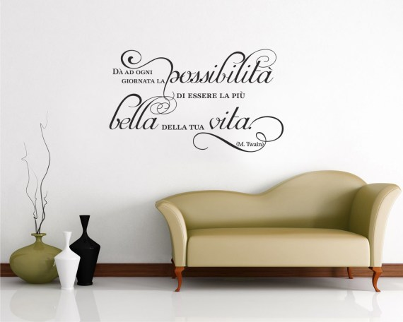 Adesivo murale-Mark Twain-la giornata più bella