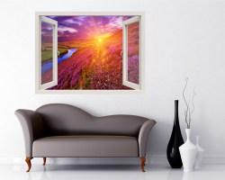 Finestra adesiva-paesaggio variopinto