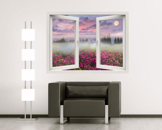 Finestra adesiva-alba sulle azalee