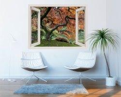 Finestra adesiva-guardando la magnolia