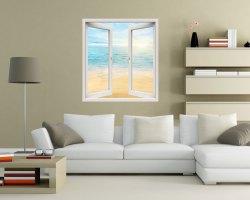 Finestra adesiva-sguardo sul mare all'alba