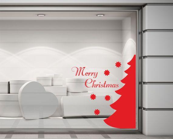 Adesivo per vetrine-merry christmas