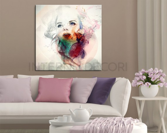 Colorata bellezza-stampa su tela