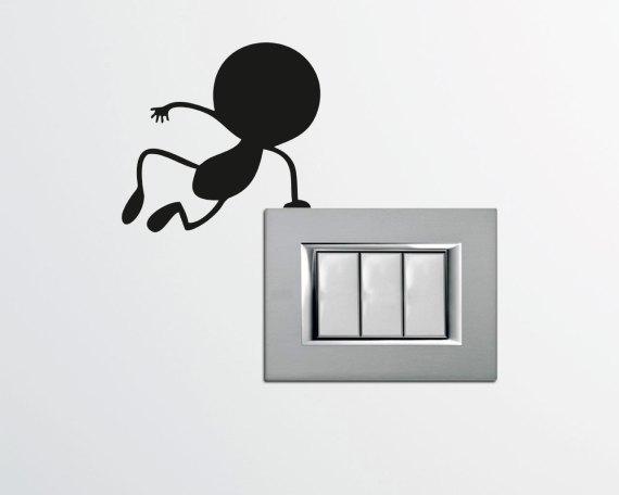 Mini sticker murale-omino che salta