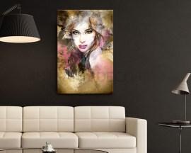 Donna glamour-stampa su tela
