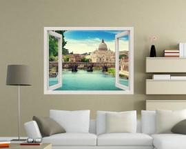 Finestra adesiva-quanto sei bella Roma