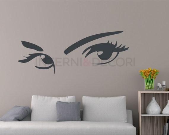 Adesivo murale-sguardo sensuale