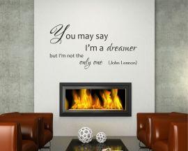 Adesivo murale-John Lennon - Imagine