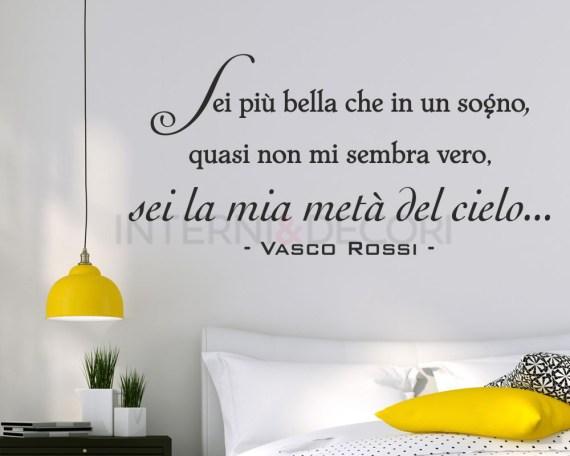 Adesivo murale-Vasco Rossi-accidenti come sei bella